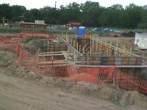 construction site underground structure